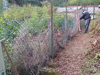 Der Zaun wurde wieder instandgesetzt